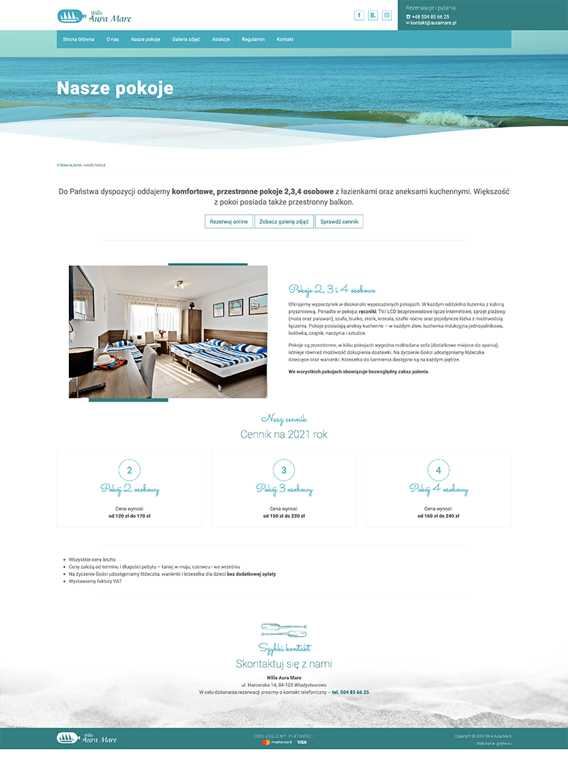 strona internetowa wordpress