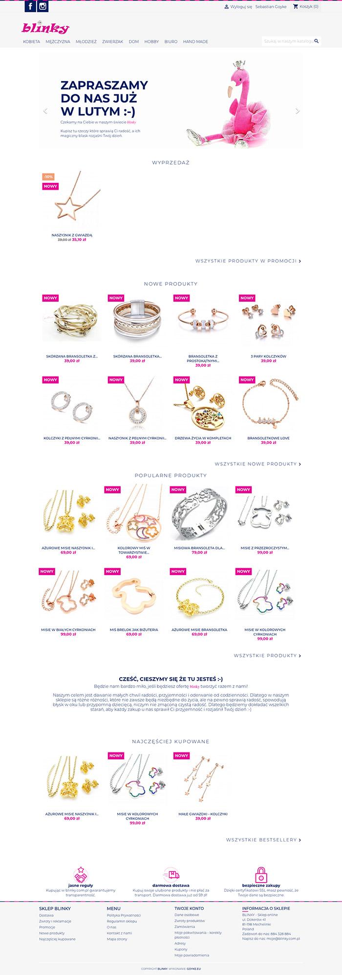 Sklep internetowy z biżuterią