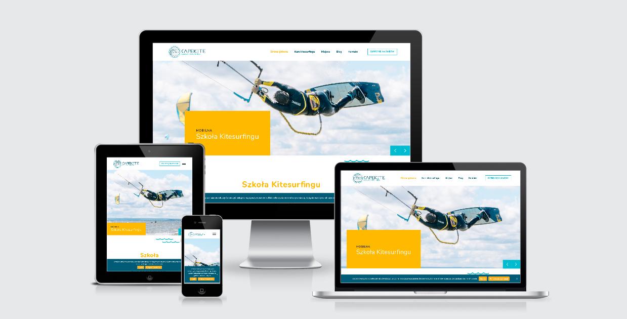 Strona www dla szkoły kite
