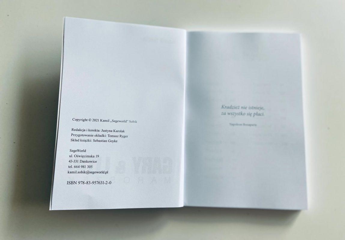 Gary & Litin Maroszek - skład książki
