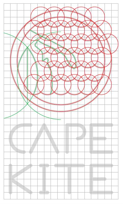 Projekt logo dla szkoły kitesurfingu
