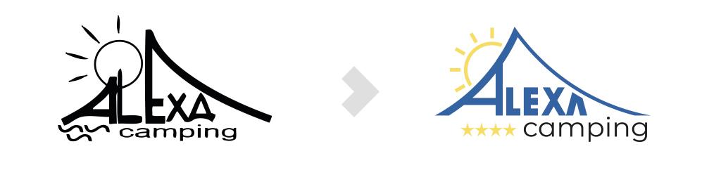Odświeżenie logo Campingu Alexa